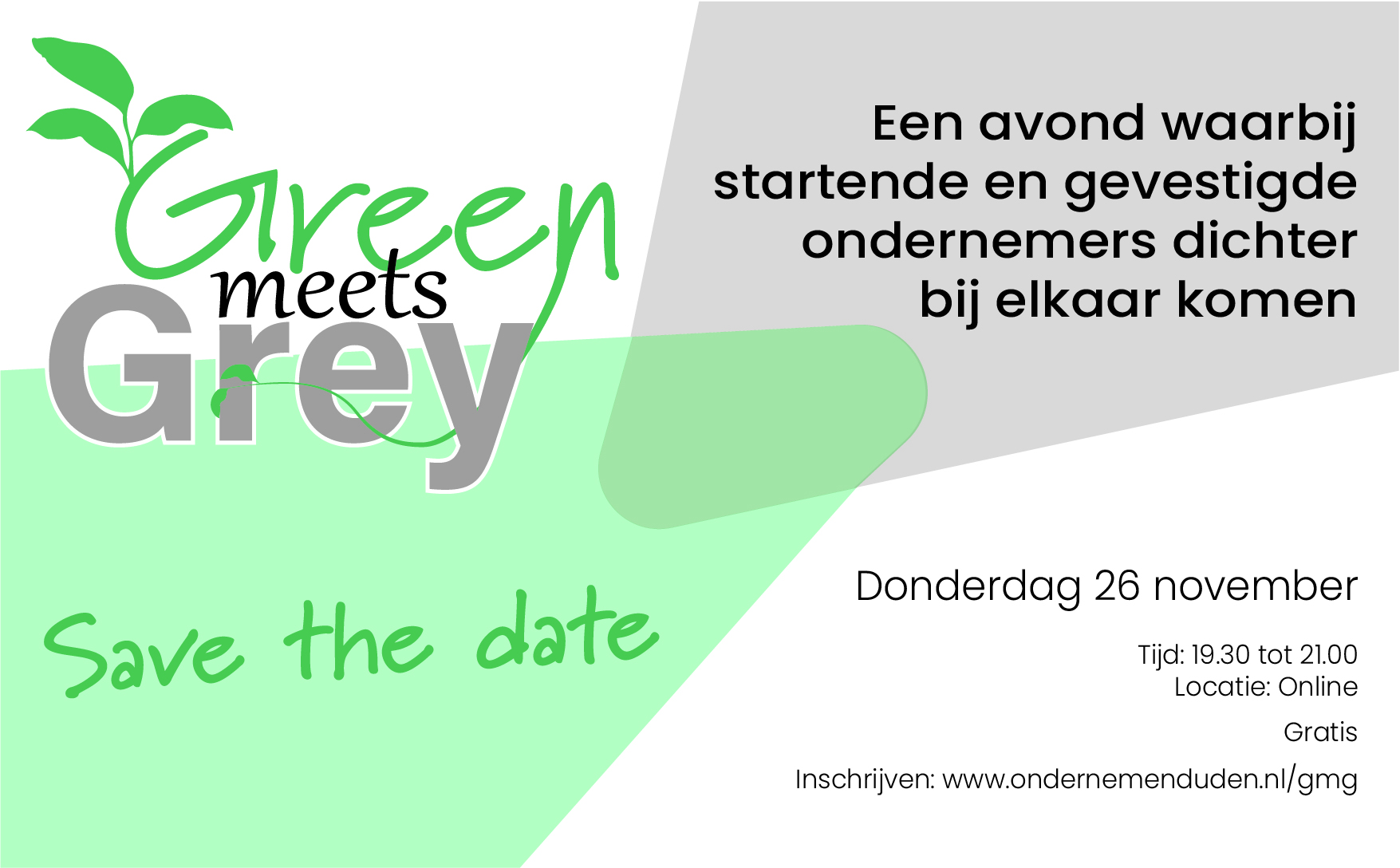 Save the date - Green meets Grey